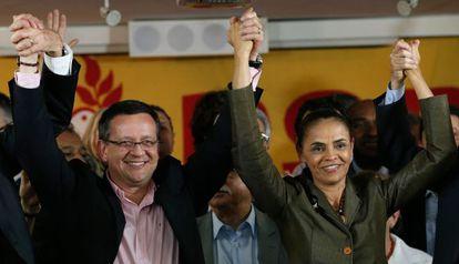 Marina Silva e Beto Albuquerque.