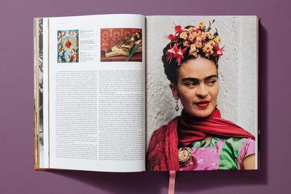 Interior do livro 'Frida Kahlo, obra pictórica completa'.