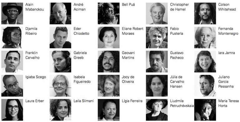 Autores que participam da Flip 2018