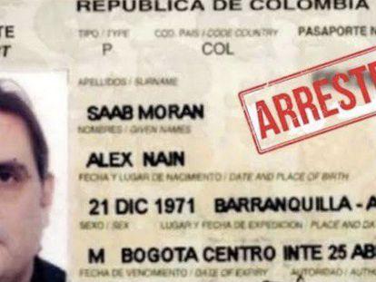 O passaporte de Alex Saab.