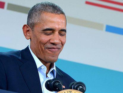 Barack Obama, durante a coletiva de imprensa em Rancho Mirage.