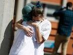 DVD 994 (26 03 2020). Madrid. Coronavirus, Virus, covid 19. Hospital Severo Ochoa de Leganes donde el ejercito del aire monta guardia en las urgencias. © LUIS SEVILLANO.