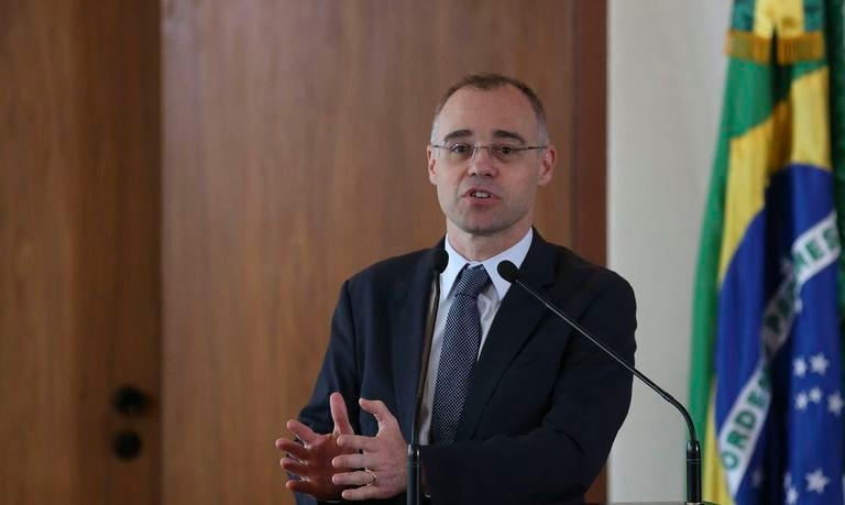O ministro André Mendonça, em abril.