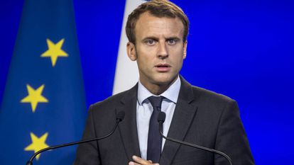 O ex-ministro francês Enmmanuel Macron.