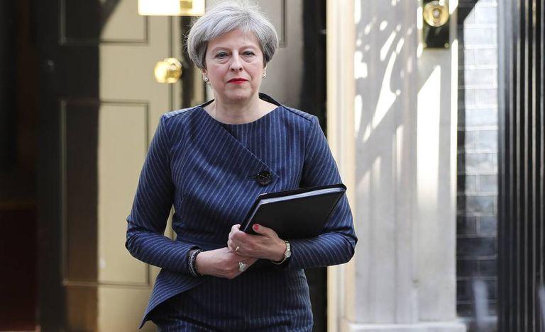 Theresa May, após convocar as eleições.