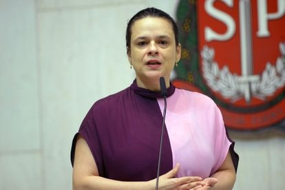 A deputada estadual Janaina Paschoal (PSL), durante sessão na Assembleia Legislativa de São Paulo