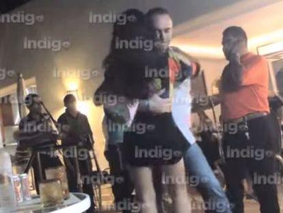 Imagem capturada do vídeo que mostra um deputado do PAN dançando.