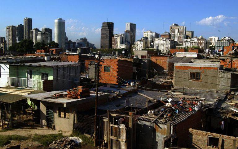 O bairro Villa 31 em Buenos Aires, Argentina.