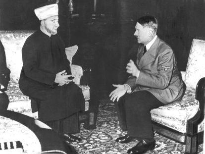 Hitler recebe ao grande mufti de Jerusalém em 1941 na Alemanha.