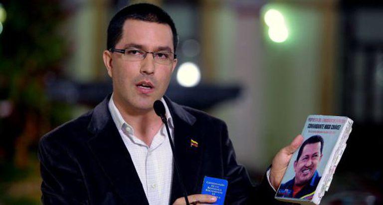 Jorge Arreaza, nesta segunda-feira em Caracas.