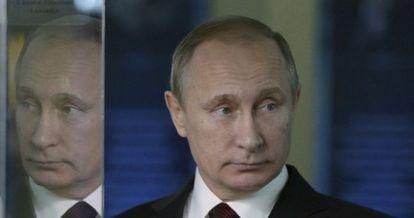 O presidente russo, Vladimir Putin, em Moscou, na quarta-feira