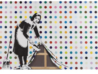 'Keep It Clean' de Damien Hirst y Banksy.