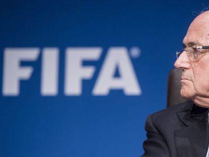 Joseph Blatter, presidente da FIFA, no dia 20 de março.