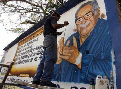 Mural de García Márquez em Aracataca