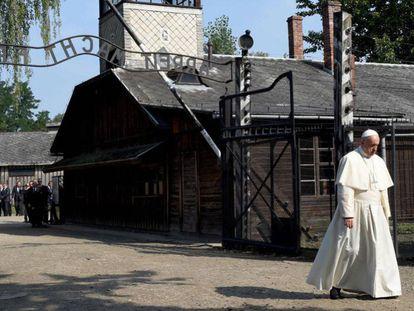 O Papa, na sexta-feira em Auschwitz.