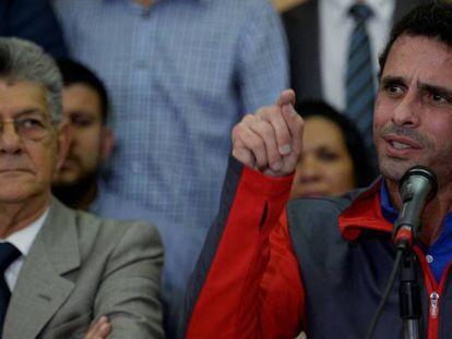 O líder opositor venezuelano, Henrique Capriles.