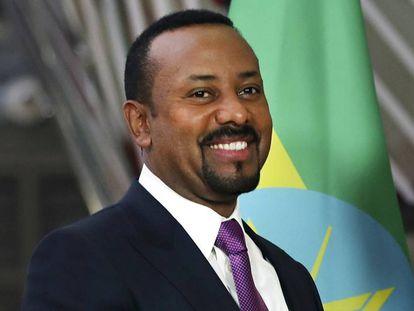 O primeiro-ministro etíope Abiy Ahmed, 24 de janeiro de 2019, na sede do Conselho Europeu em Bruxelas. Ele foi escolhido o Nobel da Paz deste ano.