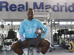 Vinicius, en el gimnasio de la ciudad deportiva del Real Madrid.