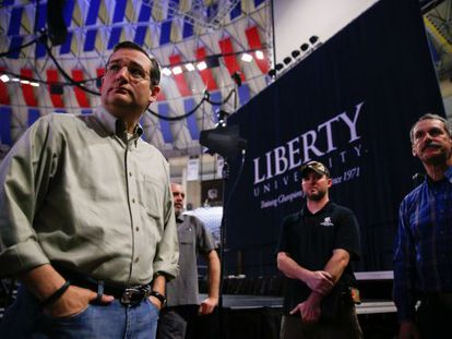 O senador Ted Cruz, no domingo.