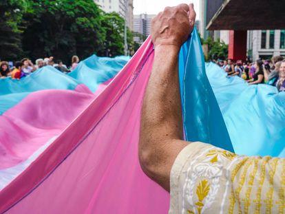 Cena da 3ª Caminhada pela Paz: Sou Trans, Quero Dignidade e Cidadania.
