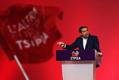 Alexis Tsipras, no congresso de Syriza.
