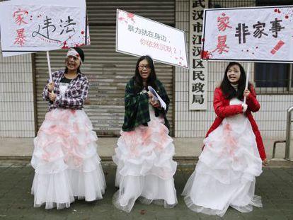 Protesto em 2012 na província de Hubei.