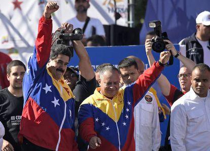 Nicolás Maduro e Diosdado Cabello.
