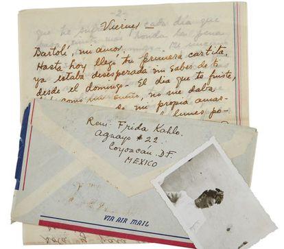 Uma das cartas de Frida Kahlo a Bartolí.