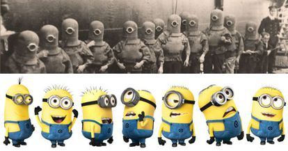 A foto que deu origem à teoria conspiratória sobre os minions.