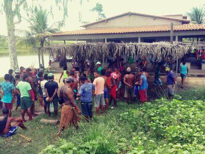 Área onde ocorreu o conflito, em Viana, no Maranhão.
