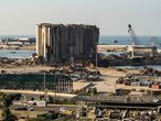 Vistas sobre el puerto de Beirut este mes de enero.