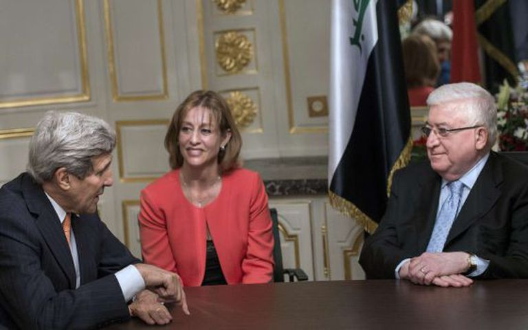 O secretário de Estado John Kerry e o presidente de Iraque Faud Masum.