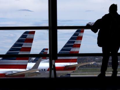 Um terminal vazio no aeroporto de Atlanta, nesta segunda-feira.