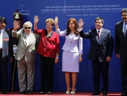 Presidentes dos países do Mercosul na Argentina.