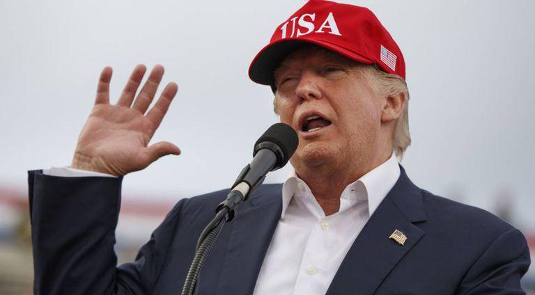 Donald Trump em um discurso em Alabama, o 17 de dezembro