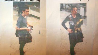 Os dois iranianos que viajavam com passaportes falsos.