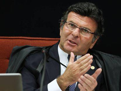 O ministro Luiz Fux, que cobrou a prisão de Joesley Batista