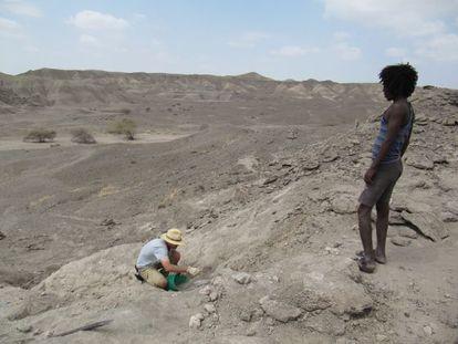 Escavações na colina de Ledi-Geraru.