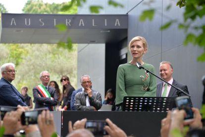 A atriz australiana Cate Blanchett.
