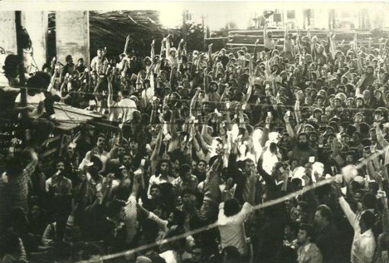 Plenária final da Conclat (hoje CUT), em agosto de 1981.