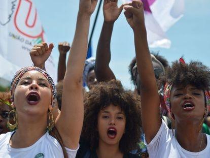 Marcha das mulheres negras contra o racismo, em Brasília.