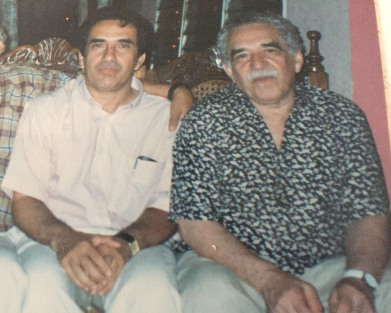 Os irmãos Eligio e Gabriel García Márquez.
