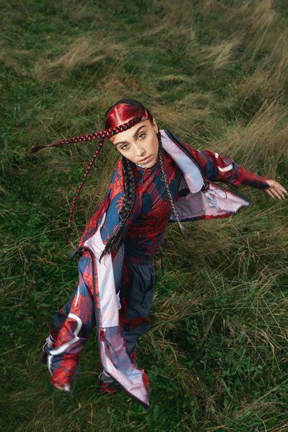 Imagem da campanha da nova coleção de Stella McCartney para a Adidas, com Lourdes Leon.