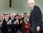 Jürgen Habermas, durante la ceremonia de entrega del Premio de la Paz en la Feria del Libro de Francfort.