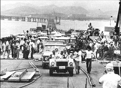 Inauguração da Ponte Rio-Niterói.