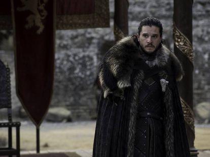 Jon Snow (Kit Harington) no último episódio da sétima temporada de 'Game of Thrones'