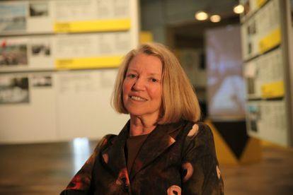 Nancy Fraser em foto do Centro de Cultura Contemporânea de Barcelona.