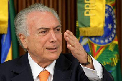 Temer durante reunião do PPI, em Brasília.