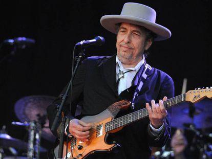 Bob Dylan, em julho de 2012 em festival na França.
