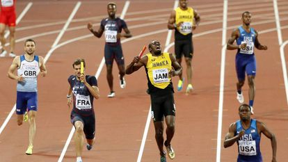 Bolt grita depois de sua lesão no 4x100
